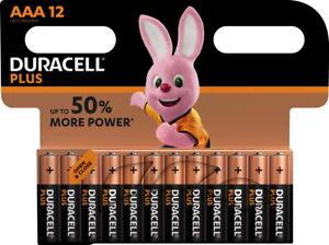 24 Duracell Plus AAA / Micro / MN2400 Alkaline Batterien im 12er Blister