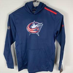 Columbus Blue Jackets Fanatics Mens Hoodie Blue Pockets Long Sleeve XL New