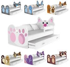 Babybett Kinderbett Jugendbett Tiere Motiv 160x80 cm + Matratze + Schublade