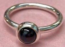 PANDORA | Goodbye Kiss Smooth Onyx CABOCHON Ring 190608O Retired RARE 925