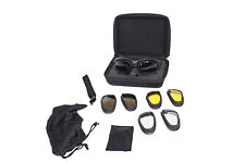 Motorcycle Biker Goggles Set With Carrying Case & Changeable Lenses NEW