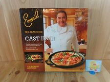 """Emeril 14"""" ROUND GRIDDLE Pre Seasoned Cast Iron Indoor Outdoor All Clad"""