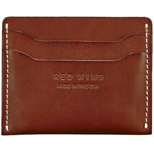 Red Wing Card Holder Unisex Red Mahogany Wallet