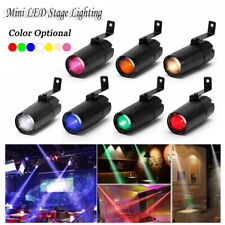 U`king 10W Mini LED Stage Light Beam DJ Disco Bar Spin Pin spot Light Party KTV