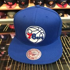 Mitchell & Ness Philadelphia 76ers Snapback Hat All Royal Blue/Current Logo