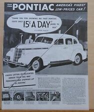 1937 magazine ad for Pontiac - Silver Streak, Candid Letter of Delighted Owner
