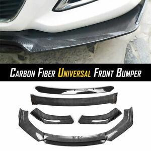 Carbon Fiber Universal Car Front Chin Bumper Lip Spoiler Splitter Scratch Guard