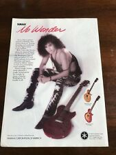 1990 VINTAGE 8X11 PRINT Ad FOR Stevie Salas Yamaha Weddington CLASSIC Guitar