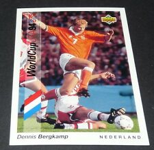 DENNIS BERGKAMP INTER NEDERLAND FOOTBALL CARD UPPER DECK USA 94 PANINI 1994 WM94