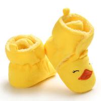 Baby Girls Boys Cozy Fleece Booties Duck Design Newborn Shoes Toddler Footwear