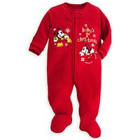 Disney Mickey and Minnie Mouse ''Baby's 1st Christmas'' Blanket Sleeper