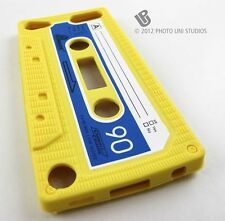 YELLOW FUN CASSETTE TAPE SILICONE RUBBER SKIN CASE COVER APPLE IPOD TOUCH 5 5TH