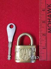 """RFD MAIL"" POST OFFICE 2"" BRASS PADLOCK W/ KEY, OLD VINTAGE ANTIQUE LOCK"