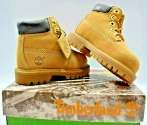 NEW TIMBERLAND 6 INCH CLASSIC FIELD BOOT WHEAT/NUBUCK (12809) TODDLERS SIZE 4.5
