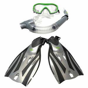 Twf Kids Fins Flippers +/or Snorkel Mask Set Childs Junior Boys Girls Swimming