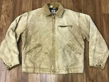 Distressed Vtg Carhartt Detroit Duck Blanket Lined Rancher Jacket M/L