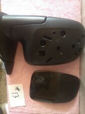 Side View Mirror Power Heated w/Puddle Gloss Black Passenger Right for Chevy GMC