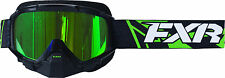 FXR Adult Black/Lime Green Mission Recon Speed Snowmobile Goggle Snow Snocross
