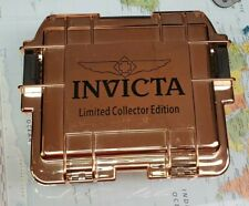 Invicta 3 Watch Slot Waterproof Dive Case Rose Gold Copper Collector Edition New