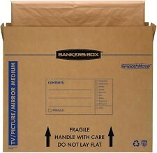 Bankers Box SmoothMove TV/Picture/Mirror Moving Box, Medium, 37 x 4 x 27 Inches