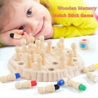 Wooden Memory Match Stick Chess Teaser Game Children Kids Puzzle Education Toys