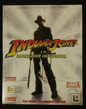 New Sealed Indiana Jones and the Infernal Machine PC Game Big Box (Spanish)