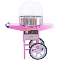 Machine à Barbe à Papa avec Charrette Rose & Dôme Acrylique Fête Anniversaire