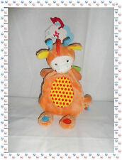 • - Doudou Semi Plat Girafe  Multicolore  Nicotoy Neuf