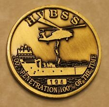 Helicopter Visit Board Search Seizure HVBSS Ser #194 Navy Challenge Coin / FAST
