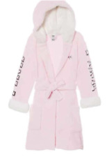 Victoria's Secret PINK Holiday Sherpa Sequin Bling Plush Bath Spa Robe XS/S NWT