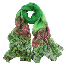 Fashion Womens Scarf Long Flower Voile Neck Scarves Wraps Shawl Stole