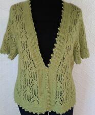 Green cardigan sweater shrug sz 18 20 LANE BRYANT short sleeve open front bolero