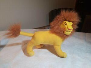 The Lion King Mufasa mini vinyl Plush Doll 96 vtg disney stuffed animal applause