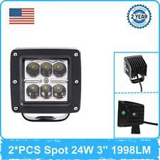2X 24W LED Work Light SPOT 6000K Beam fit Driving Car UTE Ranger Ford 4X4 NEW