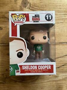 Funko Pop Vinyl Figure Sheldon Cooper In Green Lantern Shirt
