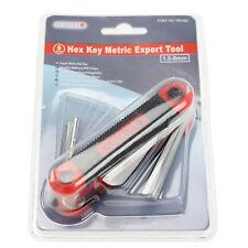 Premium Quality 8 Piece Mini Folding Expert Metric Hex Allen Key Tool 1.5 - 8mm