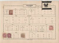 prussia early  stamps as shown ref 12316