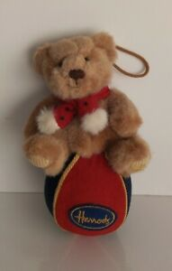 HARRODS -  Lovely Little Bear On A Ball - Hanging Ornament collectable