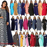 Women Batwing Sleeve Abaya Islam Loose Jilbab Dubai Kaftan Robe Long Maxi Dress