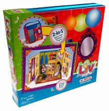 Liv My Room Foldout Playset Fashion Doll Bedroom Carry Case Closet Bed Hangers