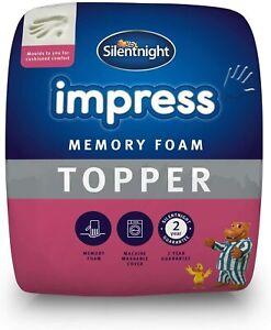 Silentnight 7cm Mattress Topper Impress Memory Foam Orthopaedic - Double Size