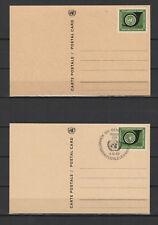 Nations Unies Genève 2 entiers postaux 1 neuf & 1 tampon date 1969 /B5N-U33