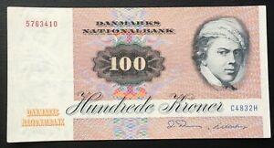 DENMARK (3410), 1983, 100 Kroner, P51j, VF+ (might be pressed)