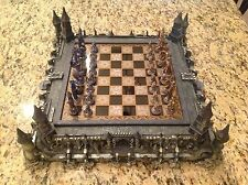 """The Franklin Mint """" Guardians of the Fortress """" Chess Set by Michael Whelan NICE"""
