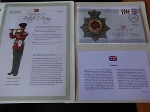 2008 GOLD PLATED COLOUR COIN COVER + COA HISTORY OF BRITISH ARMY MUSICIANS