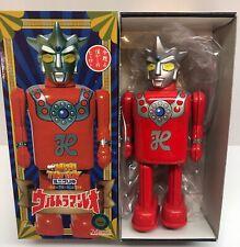 """Ultraman Leo  6"""" Tin Wind Up Japan 1990's Mint in Box"""