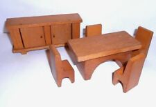 Vintage Dolls wood table with 4 chairs & side board - Creative Playthings?