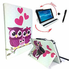 "Hülle Tasche für Fujitsu Stylistic Q550 Tablet Cover Etui 360° Liebe Eule 10.1"""