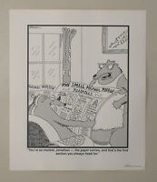 Original 1990 Gary Larson The Far Side funny animal newspaper comic strip poster