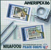 Niuafo'ou 1986 SG84 Ameripex MS MNH